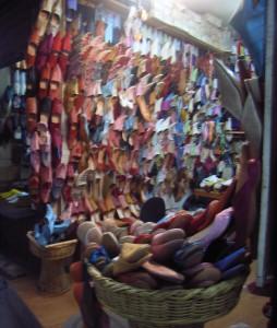 Tienda Babuchas en el Zoco