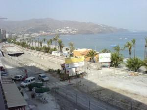 Vista aérea de Playa Velilla - Verano 2009