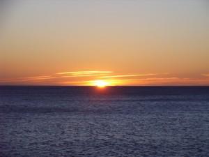 Puesta de Sol en la playa de San Cristobal