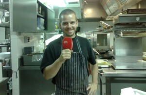 David Muñoz en la cocina del restaurante (Original Blogs RTVE)